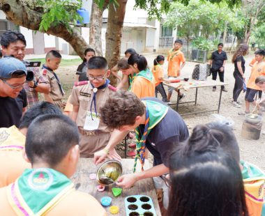 Workshop of organic soap